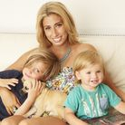 Stacey Solomon with her sons Zachary, five, and Leighton, one.