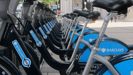 The Barclays Cycle Hire Scheme was introduced on London's streets three years ago. Picture: Mike Bro