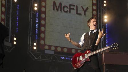 McFly perform at Go Local festival at Queen Elizabeth Olympic Park.