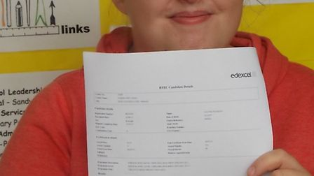 Leanne Tansley who sat GCSEs at Education Links this year.