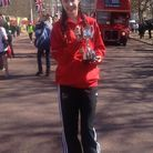 Lydia Hellam, from the Coopers' Company and Coborn School in Upminster, after winning the London Min