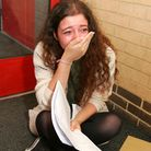 An emotional Naomi Penn after getting six A*s, five As and one B at King Solomon High