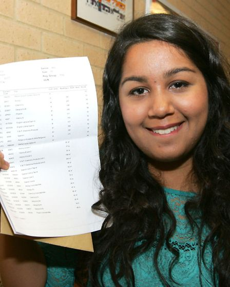 Manahil Afseh bagged five A*s, seven As and one B at King Solomon High