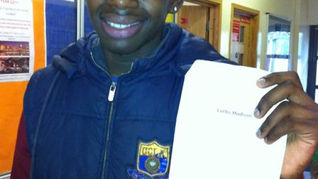 Curtis Hudson who overcame disability to pass nine GCSEs at grade C