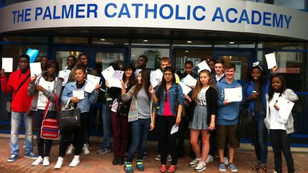 Students at The Palmer Catholic Academy helped it achieve its best ever GCSE results