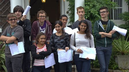 Forest School pupils with their GCSE results