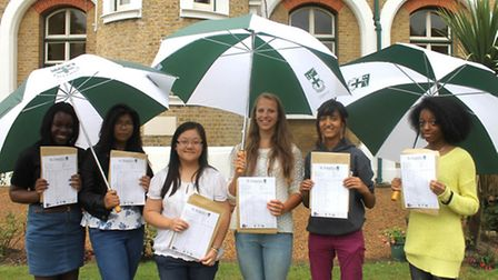 Top achievers at St Angela's School: Stephanie Dyer, Kimberley Sison, Kim Huynh, Marianna Marcelinne