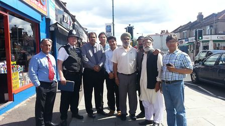 A/PS Declan Maloney meets with the chairman of British League Of Muslims, Bashir Chaudhry, and membe