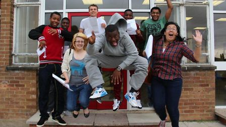 Students jump for joy at The Campion School