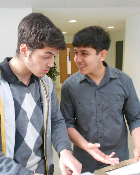 Abdelhakim Belarbi (three A grades) and Rishi Boda (two As and a B), both 18, will be studying denti