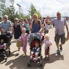Visitors enjoying the Queen Elizabeth Olympic Park