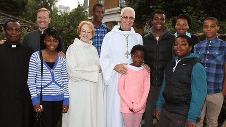 The Right Reverend Stephen Venner, centre, with other members of the Church of England East Ham and