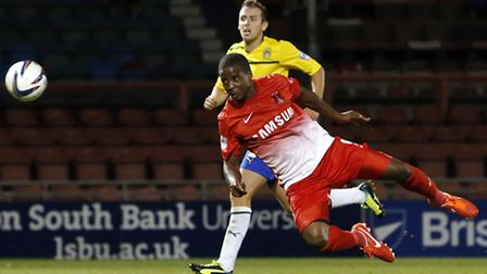 Kevin Lisbie heads Orient's winner against Coventry