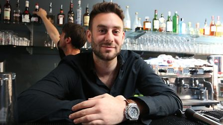 Sumo fresh restaurant is a new sushi restaurant in Wanstead Owner Adam at the bar