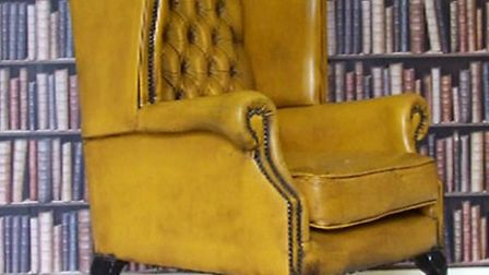 The Queen Anne chair that Ade and Dami are hoping will help them raise money