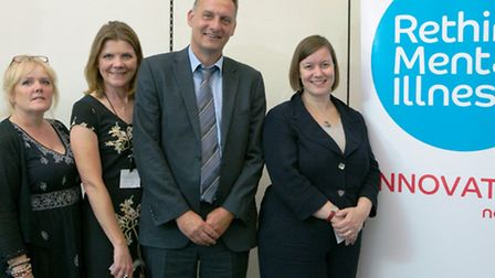 Pictured at the launch of the project, are, left to right, Diane Hull, East London NHS Foundation Tr