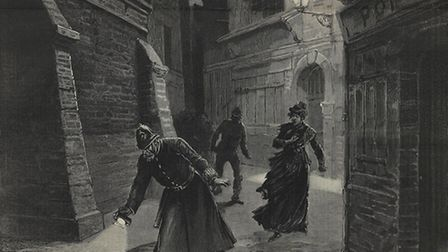 Victim of Jack the Ripper, portrayed by the popular press of 1888