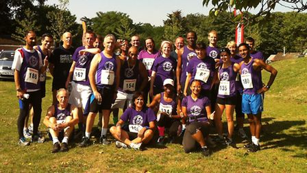 East End Road Runners in Barking Park.