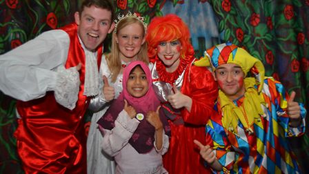 Ayesha Amerat with the Starlight Pantomime Troupe