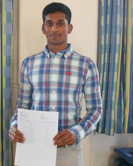 Kiran Shaji, who is set to study medicine after receiving two A-stars and two As