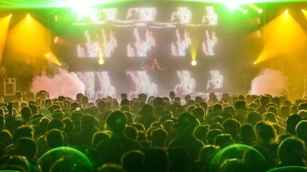 Visitors enjoying the acts at High Definition Festival