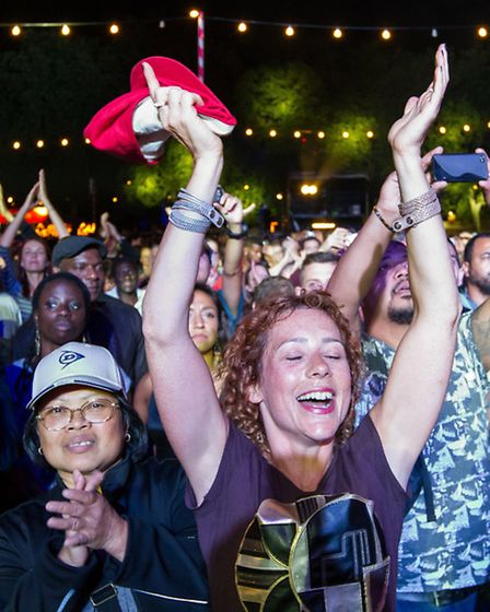 Just some of the thousands who enjoyed the first night of Under the Stars Picture: David Fearn