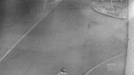 Police are looking for this man in connection with an arson in Hazel Lane.