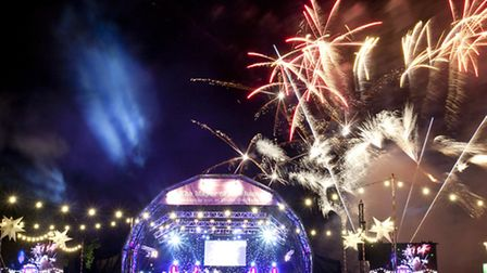 The music festival also provides a visual treat with a colourful finale Picture: ©www.sarahlondonpho
