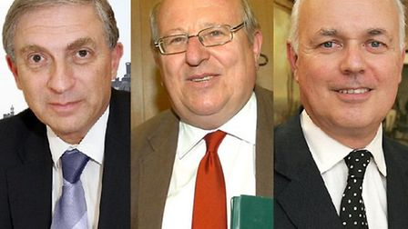 Lee Scott, MP for Ilford North, Mike Gapes, MP for Ilford South and Iain Duncan Smith, MP for Chingf