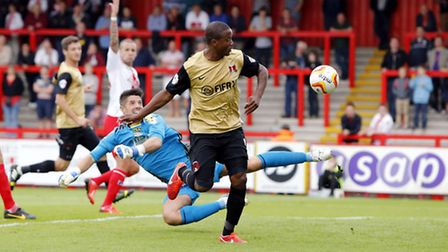 Kevin Lisbie netted against former club Colchester (Simon O'Connor)