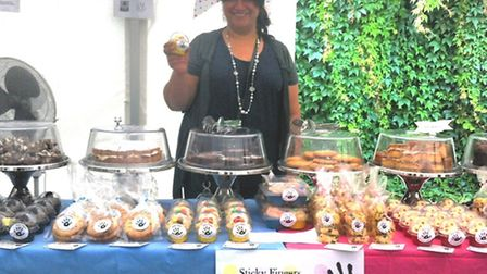 Ferial Desai with her Sticky Fingers Cookies & Co stall at Eat15 Food Festival.