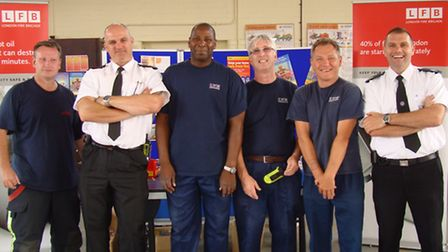Firefighters from Hainault Fire Station.