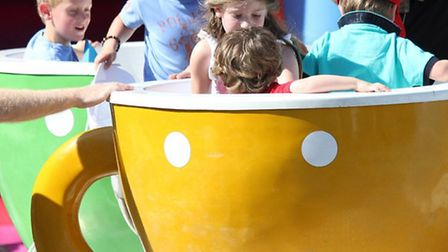 There will be spinning teacups and other children's rides at the fun day in Repton Park