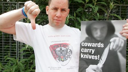 """Danny O'Brien started the """"thumbs down to knife crime campaign"""" in May"""