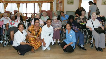 Staff and residents at Seabrooke Manor Residential Nursing Home