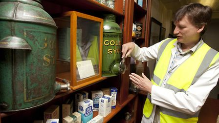 Community Affairs Manager Ken Wilson at the Tate&Lyle Sugars' memorabilia centre in Silvertown.