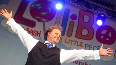 Justin Fletcher wowed the young fans