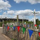 A view of Queen Elizabeth Olympic Park from the View Tube,