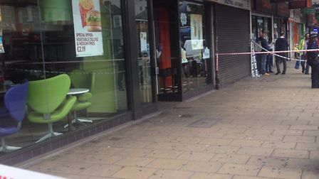Police believe the incident happened at about 10.30pm yesterday