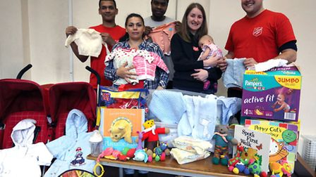 John Clifton and Naomi along with otherss from the Salvation Army have set a Baby Bank. John Clifton