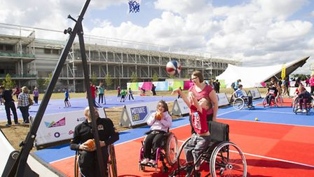 Just some of the thousands of people who enjoyed the activities on offer at Queen Elizabeth Olympic