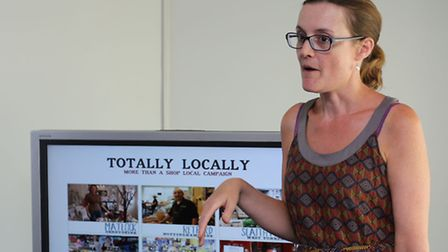 """Rachel Roots from The Orange Tree, Wanstead, gave a guest talk about the """"Totally Locally"""" campaign,"""