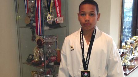 AJ Jordan with this trophies and medals
