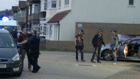Armed police used the BP garage as a base to run the operation