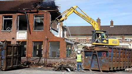 Demolition work where a new school is to be built