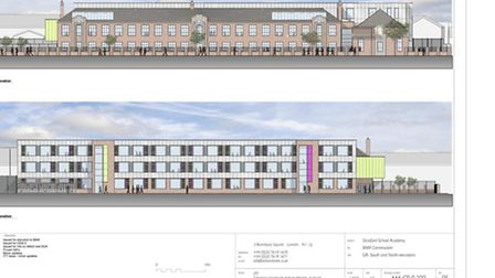 Plans show what the finished school in Grosvenor Road will look like. Demolition work has already c