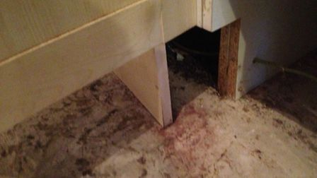 The inside hole where the rats were before it was fixed (Picture supplied by Mohamed Djitli)