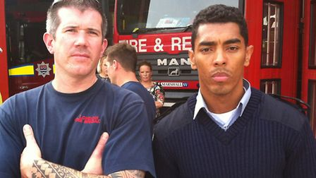 East Ham fire station firefighters Damian Wakeman (left) and Chris Lock