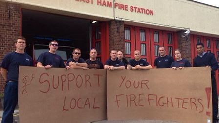 Firefighters go on strike at East Ham fire station