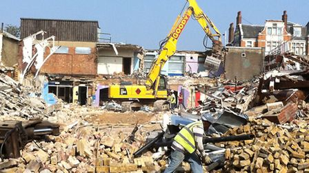 The former swimming poolin High Road has been demolished to make way for a primary school